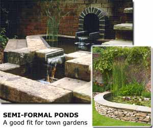 Ponds and watergardens styles and designs for Semi formal garden designs