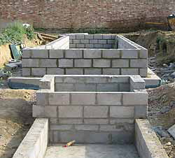 Formal ponds designs from our portfolio for Concrete block pond construction